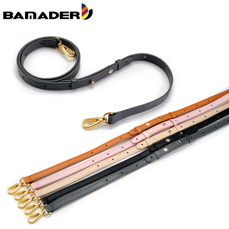 BAMADER Solid Color Genuine Leather Woman Bag Strap Adjustable Shoulder Strap Ladies Bag Replacement Part Accessories For Bags