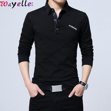T Shirt Men Long SleeveTurn-down Callor Stripe Designer T-shirt Slim Fit Casual/Business Cotton Male Plus Size 5XL