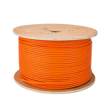 Cat 7 ethernet rede fio lszh 10g 600mhz laranja cat7 sftp instalação cabo 23awg 0.57mm fios de cobre puro duplo escudo