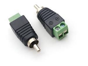 Image 2 - 1000pcs CCTV 카메라 어댑터 RCA 남성 플러그 AV 터미널 커넥터 비디오 Balun 어댑터