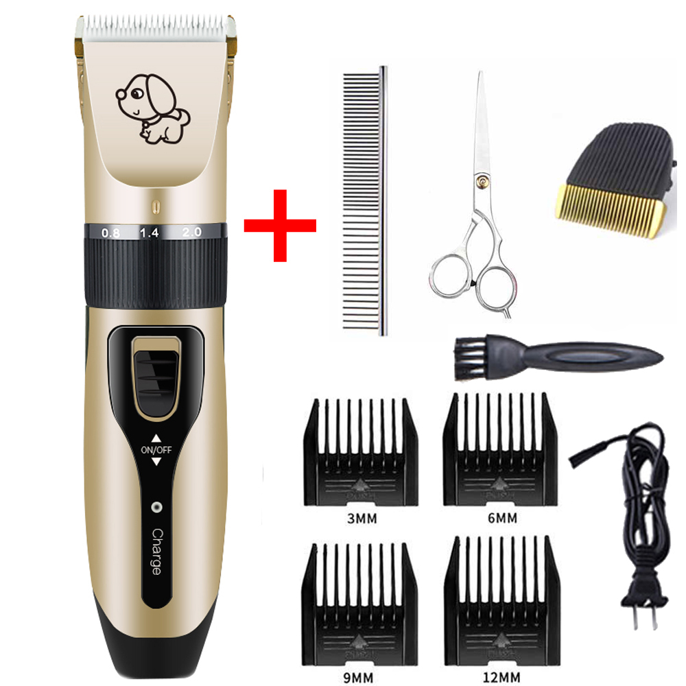 2019 Rechargeable Low-noise Pet Hair Clipper Remover Cutter Grooming Cat Dog Hair Trimmer Electrical Pets Hair Cut Machine image