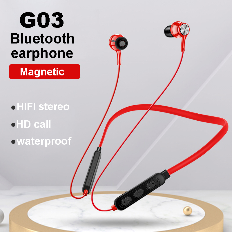 Wireless Bluetooth Earphones Magnet stereo Bass Headset With Microphone Universal type sports waterproof headphones