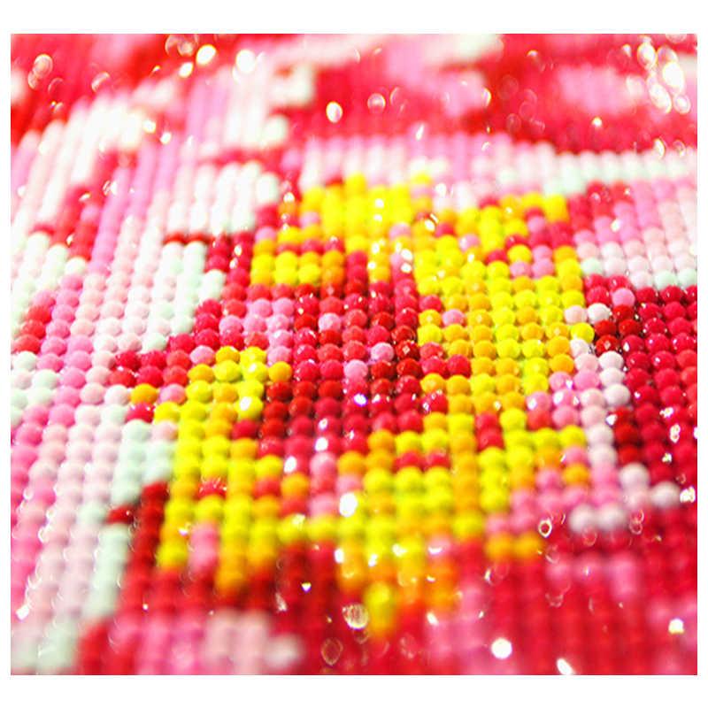 Pittura diamante Animale Aquila di Diamante Del Ricamo Icone Bandierina Rotonda punta di Diamante Immagine Di regalo Di Natale
