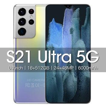 Global Version Galay S21 Ultra 4G/5G 16GB RAM 512GB ROM Dual Sim Unlocked Mobile Phones Cell Phone Celular Smartphone 4