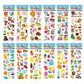 12 листов/уп, красивые пакет детские наклейки 3D Пышное оптом с героями мультфильма «Зоопарк» животных Скрапбукинг наклейки на день рождения ...