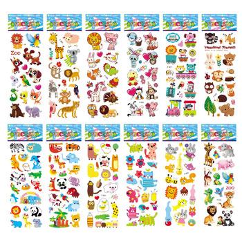 12 arkuszy paczka naklejki dla dzieci 3D Puffy Bulk Cartoon Zoo do scrapbookingu ze zwierzętami naklejki na dziewczynę chłopiec prezent urodzinowy tanie i dobre opinie Monssjay 17cm about 45g j012y 12 sheets