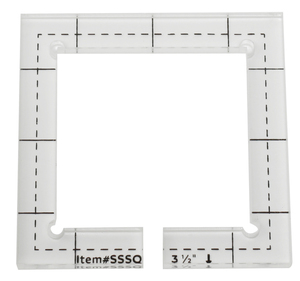 Image 5 - For straight edge or stitching in the ditch foot #SSSQ 3mm#SSSQ 5.8mm Acrylic Patchwork Quilting Template Ruler Square Longarm