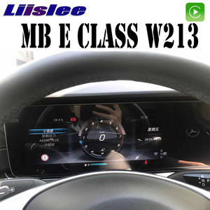 Автомобильный мультимедийный плеер Liandlee, цифровой ЖК-дисплей на приборной панели для Mercedes Benz MB E Class W213 2016 ~ 2019, стерео, без Android, GPS, приборная п...