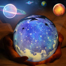 133*127mm Planet Projector Night 3 colors Light Earth Night breathe Lamp USB Charging Children Birthday Gift New N11(China)