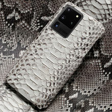 Mewah Genuine Python Kulit Phone Case untuk Samsung Galaxy S20 Plus S20 Ultra A50 A51 A70 A71 S7 S8 S9 s10 Plus S10 Lite S10E S8 Plus S7 Edge Note 10 Plus 9 A70 a30s A20 A40 A30 A80 A50S A7 A8 2018 Kulit Ular Cover(China)