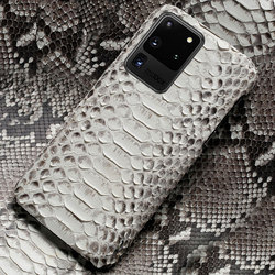 Mewah Genuine Python Kulit Cell Phone Case untuk Samsung Galaxy S20 S20 Plus S20 Ultra A50 A51 S8 S9 S10 plus S10E S8 Plus S7 Edge Note 9 A10 A20 A40 A60 A30 A80 A20S A30S A50S A7 A8 2018 Kulit Ular Cover