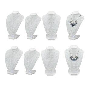 6x манекен бюст ювелирные изделия, ожерелье цепь кулон держатель стенд модель бутик ювелирных изделий стенд