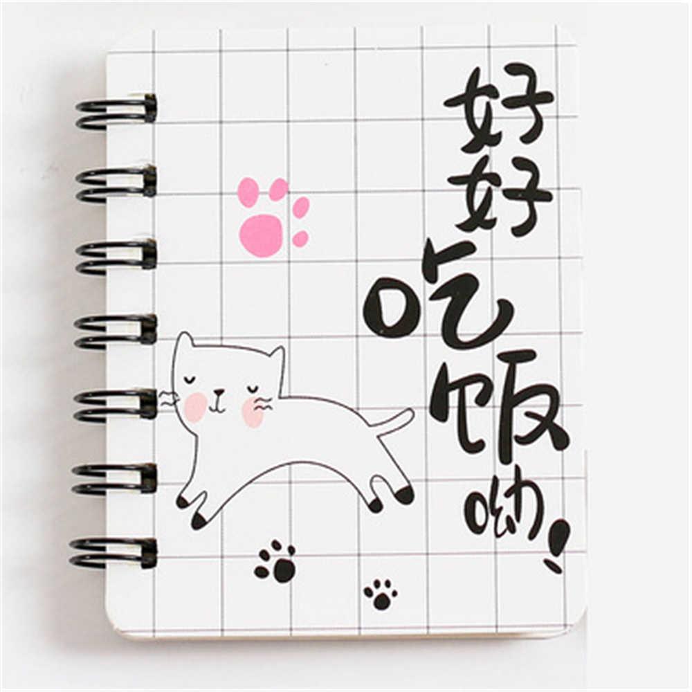 Śliczne różowe pantery notatnik koreańskie piśmiennicze Student Rollover cewka Notebook przenośny notatnik śliczne mała książka szkolne