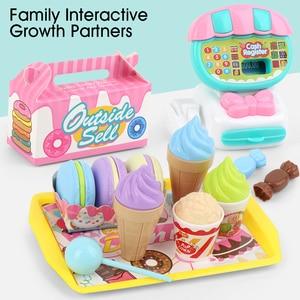 Image 5 - Simülasyon yazarkasa öğretim eğitim Mini süpermarket çocuklar ABS oyuncak seti ev öğrenme oyun evi çocuk