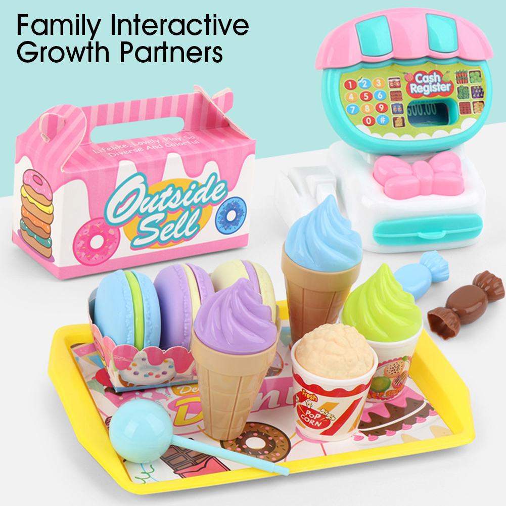 Image 5 - Simulation Cash Register Teaching Educational Mini Supermarket Kids Pretend ABS Toy Set Home Learning Play House ChildrenGroceries Toys   -