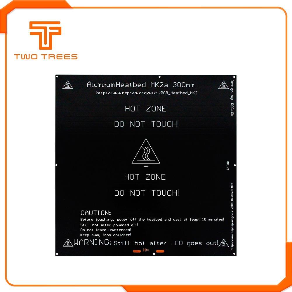 Image 5 - 300*300*2.0 MK2A RepRap RAMPS 1.4 PCB Heatbed Plate MK2A LED Resistor cable 100k ohm Thermistors PCB heat bed 328*328    -