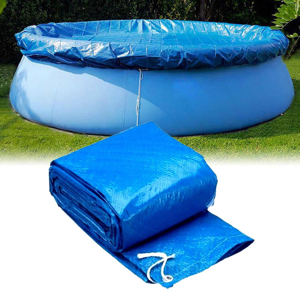 New Swimming Pool Cover Cloth Tarpaulin Waterproof Rain Cloth Inflatable Swimming Pool Dust Cover Diaper Round Durable PE Cloth