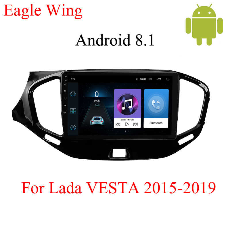 アンドロイド 8.1 車の dvd マルチメディアプレーヤー Lada ベスタ 2015-2019 カーラジオビデオプレーヤーと GPS ナビゲーションサポート Bluetooth