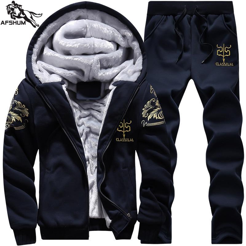 Tracksuit Men Suits New 6XL 7XL 8XL 9XL Joggers Suit Even Hat Plus Velvet Fitness Running Set Warm Jogging Tracksuit Sport Mens
