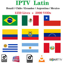 Latino IPTV Brasile Subscriptio HBO NBA IPTV Adulto Cinema Cile Messico Argentina Perù Per Android Smart TV Box SSIPTV H96 max MAGs(China)