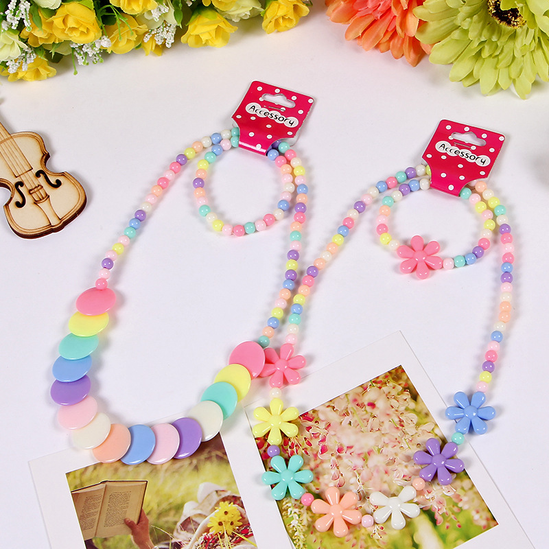 Jewelry Making Beads Toys For Children Necklace And Bracelet Set Handmade Princess Girl Gifts Classic Crafts Toy HandiCrafts