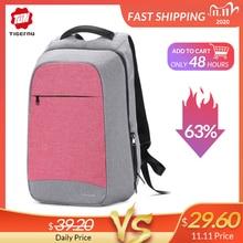 "Multi moda feminina feminina mochila rosa 15.6 ""portátil anti roubo mochilas de viagem mochila escolar para meninas saco de negócios"