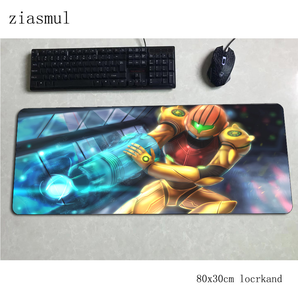 metroid padmouse 80x30cm gaming mousepad game Mass pattern large mouse pad gamer computer desk cute mat notbook mousemat pc image