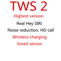 TWS 2 AI Voice Control Smart Sensor Wireless charging Earbuds Bluetooth Earphone Headphone Wireless Headset Best version