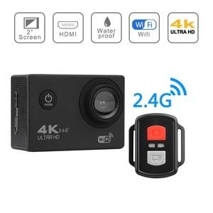 "Image 4 - H9R عمل كاميرا كامل HD 4K 25FPS واي فاي 2.0 ""شاشة كاميرا خوذة صغيرة مع جهاز التحكم عن بعد الذهاب مقاوم للماء برو الرياضة كاميرا الفيديو الرقمية"