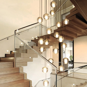 Image 2 - Youlaike Luxus Moderne Kronleuchter Beleuchtung Große Treppe FÜHRTE Kristall Leuchten Poliert Stahl Hängen Lustre Cristal