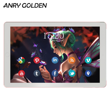 цена на ANRY A1006 3G 10 Inch Tablet Android 7.0 MTK6580 Quad Core Dual Sim Phone Call GPS RAM 1GB ROM 16GB Wifi 10.1 Tablet pc
