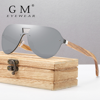 GM Original Brand Men Wooden Sunglasses Polarized Metal Frame Bamboo Glasses Women Luxury Sun Glasses With Wood Case 2020 original design magic lcd sunglasses men polarized sun glasses adjustable transmittance darkness liquid crystal lenses