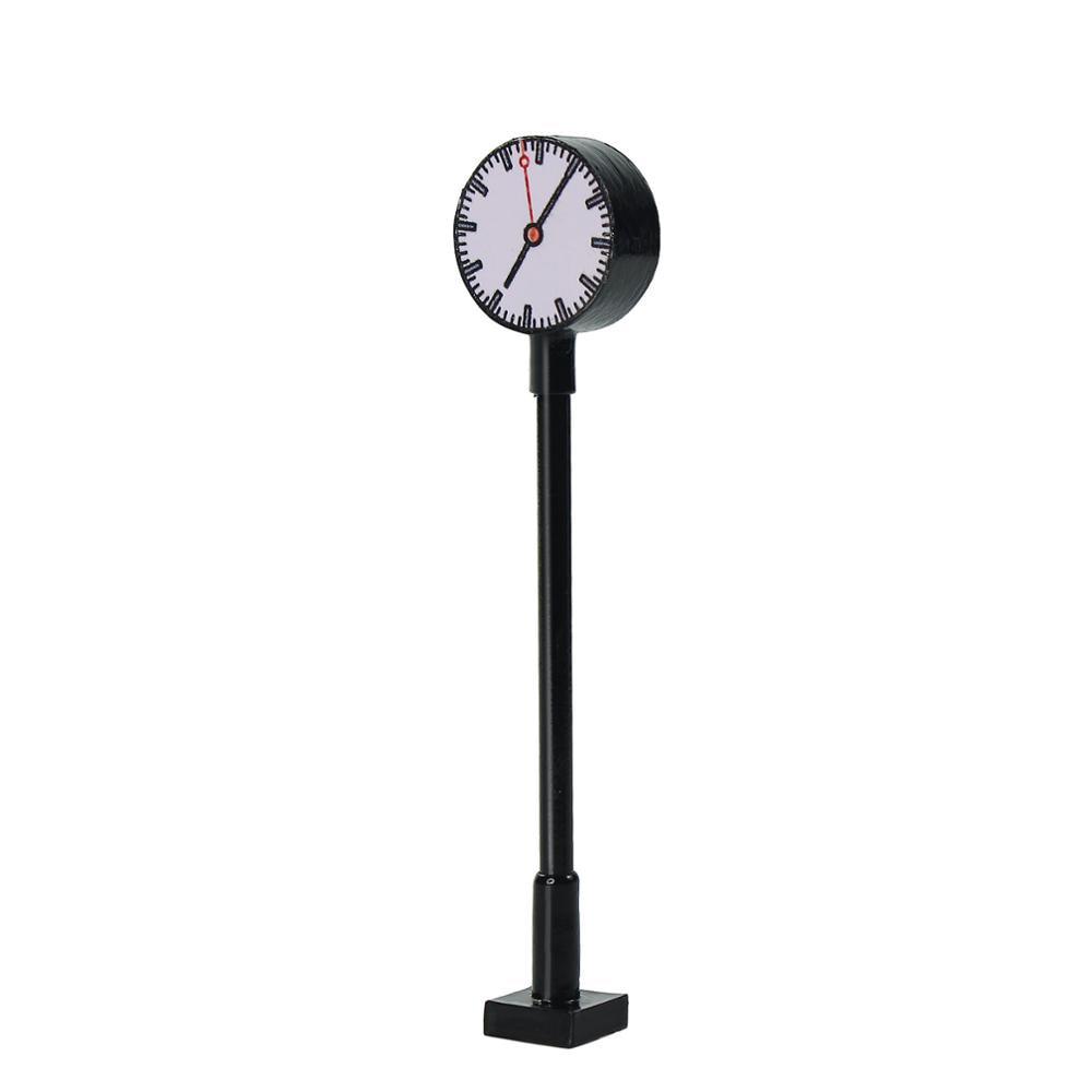 Modèle lumières ferroviaires Lit plate-forme horloge lampe gare disposition HO N échelle LQS62