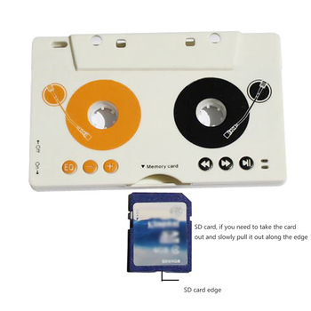 Portable Vintage Car Cassette SD MMC MP3 Tape Player Adapter Kit With Remote Control Stereo Audio Cassette Player Car Audio image