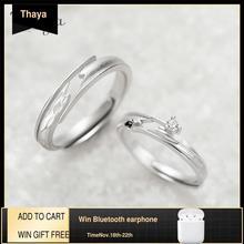 Thaya נפגש במקרה עיצוב טבעות באיכות גבוהה S925 סטרלינג כסף תכשיטי טבעת זוג לחתונה אירוסין מתנה
