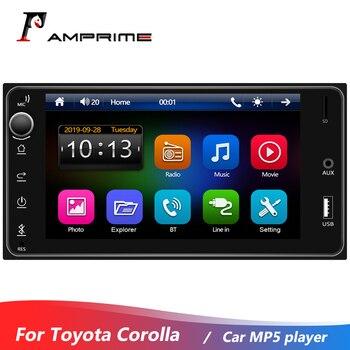 AMPrime 7'' HD Touch Screen Car MP5 Player Universal  ForToyota Corolla Audio Player Bluetooth Mirror Link FM  AUX TF/USB  Radio