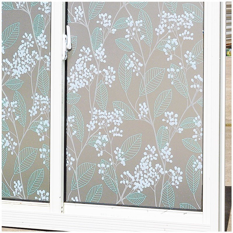 Matte Window Film Stained Glass Decorative Uv Window Sticker Privacy  Frosted Self Adhesive Film Window Decal for Glass 3