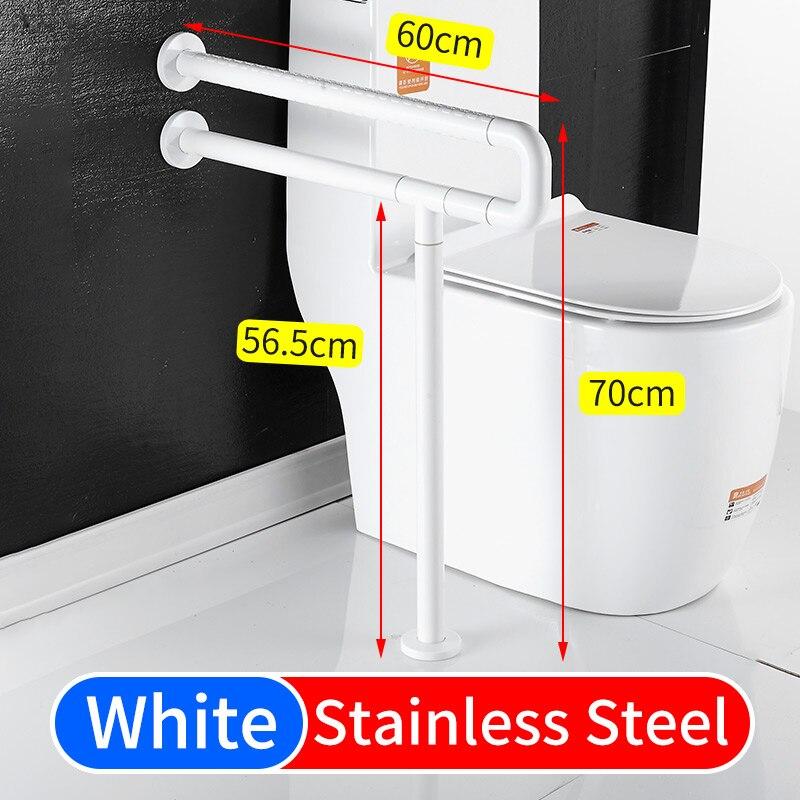 Поручни для туалета, опоры из нержавеющей стали, защитные поручни, поручни для пожилых людей, поручни из нержавеющей стали - Цвет: A-White(5518)