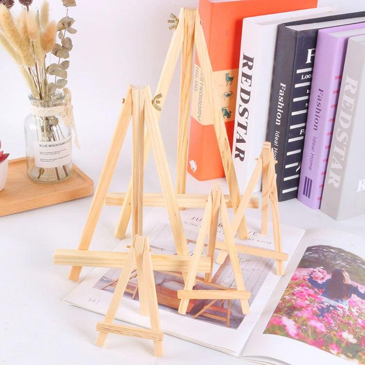 Direct Selling Korean-style Decoration Mini Solid Wooden Frame Calendar Display Rack Desktop Wood Xiao Zhan Jia Triangular Woode