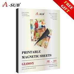 Магнитная наклейка для чернил фотобумага А4 Глянцевая для струйного принтера
