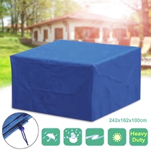 1pc Waterproof Outdoor Garden Furniture Cover for Wicker Sofa Protection Set Table Lounge Patio Rain Snow Dustproof Cover patio wicker chaise lounge white poolside balcony lounger transport by sea