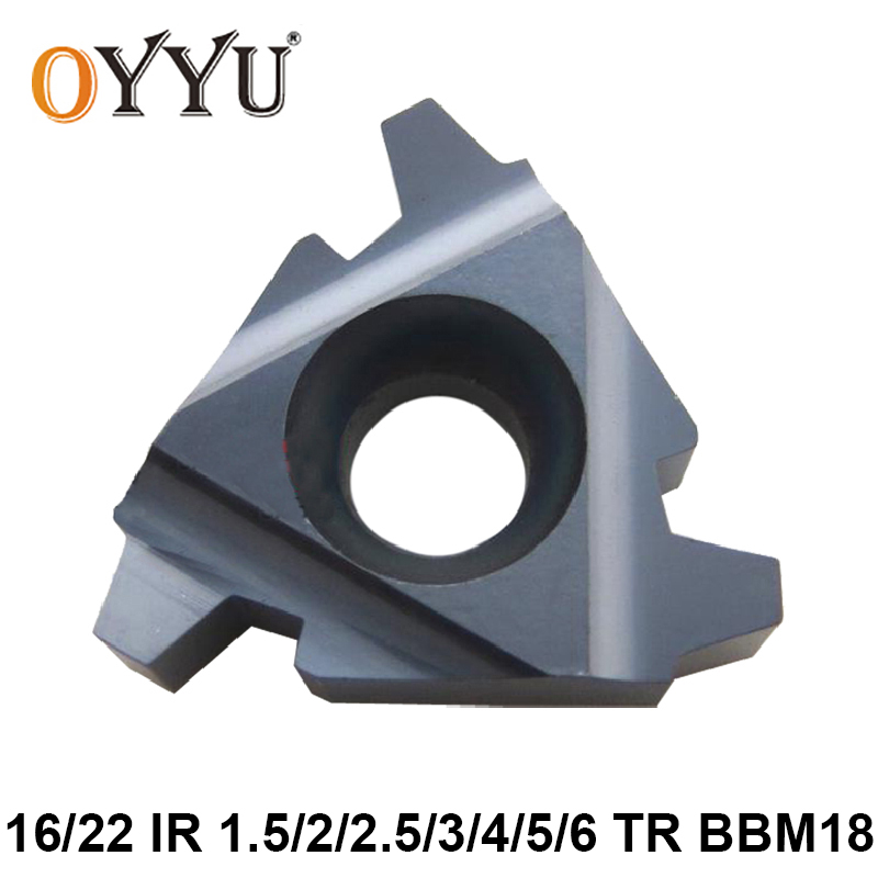 OYYU 16IR 1.5TR 2TR 2.5TR 3TR 4TR 5TR 6TR BBM18 16 IR 1.5 2 2.5 3 4 5 6 TR Threading Carbide Inserts For Steel & Stainless Steel