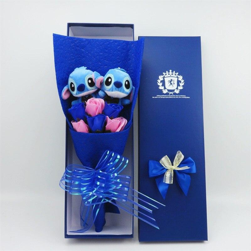 Diy Dos Desenhos Animados Ponto Brinquedos de Pelúcia Bicho de pelúcia Boneca Bouquet Para a Graduação/aniversário/Casamento/Dia de Natal Para Meninas decoração