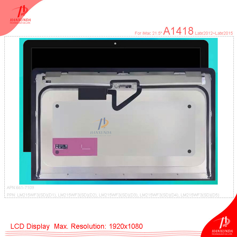 Genuine New for Apple iMac 21.5 A1418 LCD Screen Display Assembly LM215WF1 2012 2015 661-7109 LCD Display Panel with Glass image