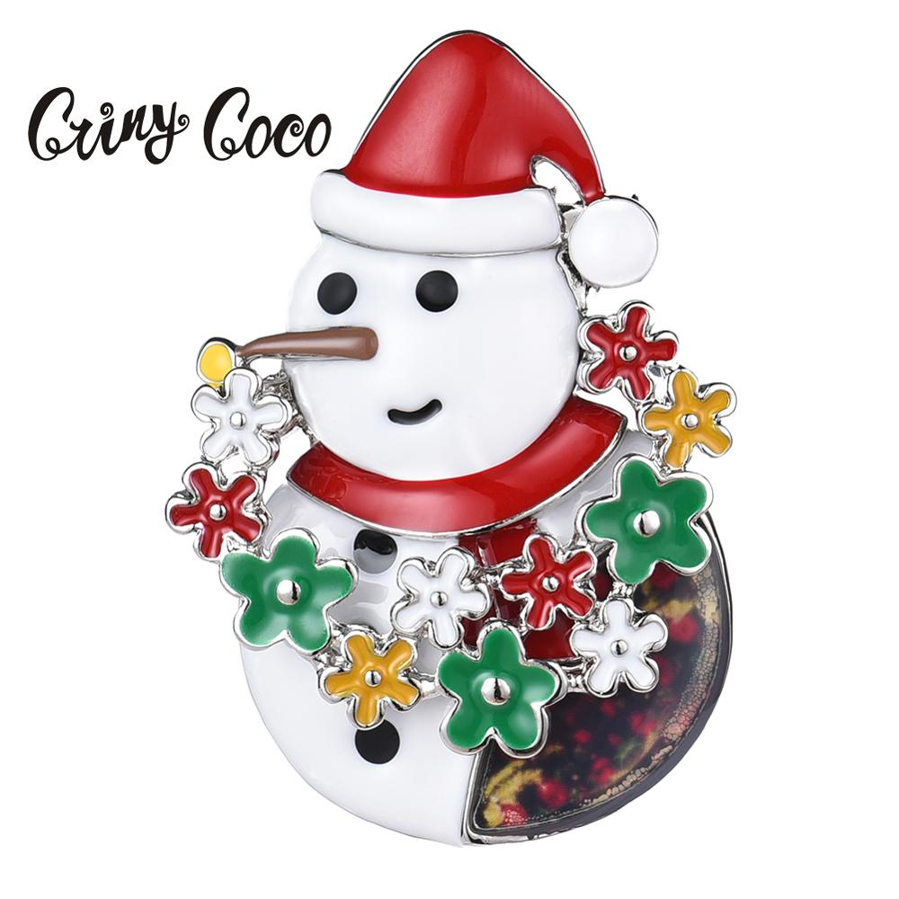 Vintage Crystal Alloy Christmas Tree Brooch Pin for Women Doll Clothes Decor