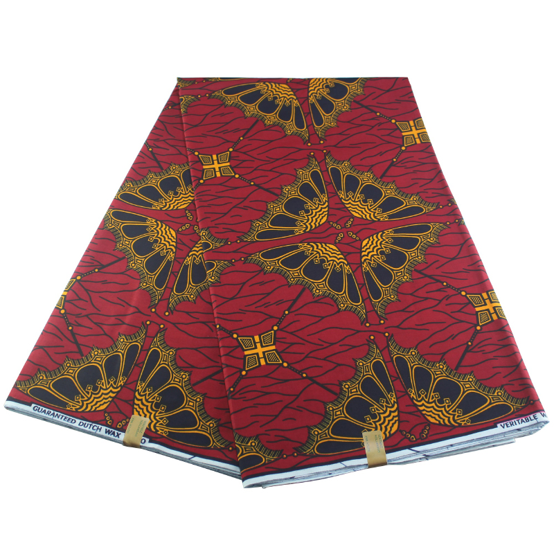 New African Wax 2020 Ankara Fabric Material 100% Cotton 6Yards For Clothing Sewing