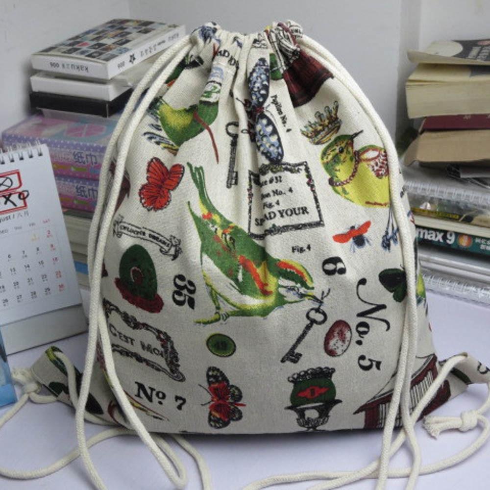 Unisex Big Backpacks Bags For Women 2019 New Bag Pack Fashion Retro Printing Bags Drawstring Beach Bag Sac De Plage Women Bag@
