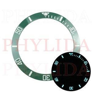 Image 5 - ¡Oferta! De 38mm anillo negro, azul, verde, superluminoso, de cerámica, con bisel para reloj, compatible con Sub buzos SKX007/009, reloj con total luminosidad