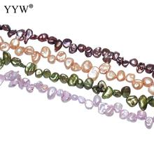 6-8mm Nuggets Loose Pearls Bead Cultured Baroque Freshwater Pearl Beads For Diy Jewelry Making Findings 0.8mm Sold By Strand