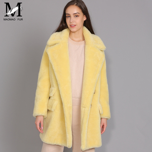 Image 5 - Maomaomaofur lã real casaco de pelúcia feminino nova moda casaco de pele de ovelha real feminino quente oversize inverno outerwear lã roupas